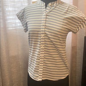 NWT striped button up top
